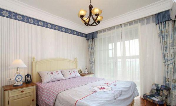 典丽矞皇卧室窗帘装修实景图片