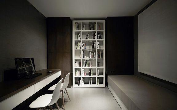 温暖白色书房案例图片