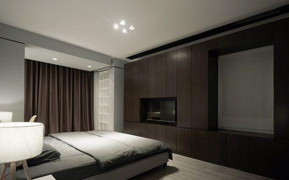 设计精巧卧室窗帘装修案例图片