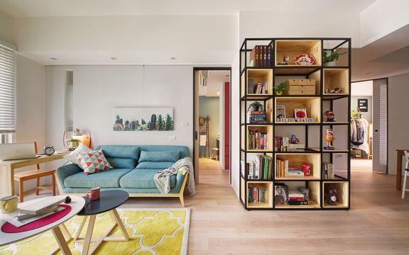 美感黄色客厅装饰实景图片