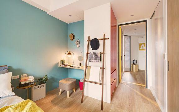 清新素丽卧室现代简约装修实景图