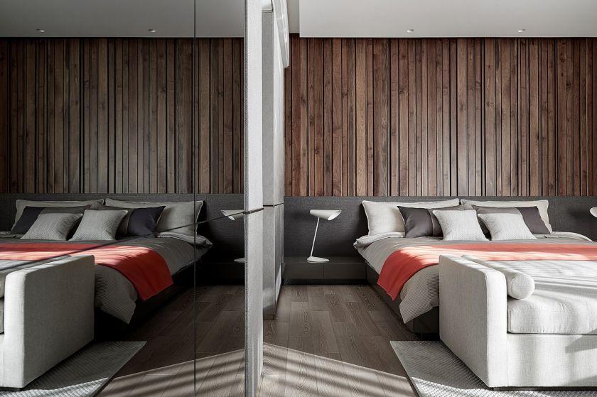 卧室背景墙简约装修设计