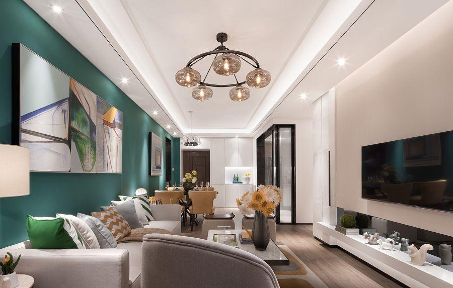 简欧客厅沙发装修设计