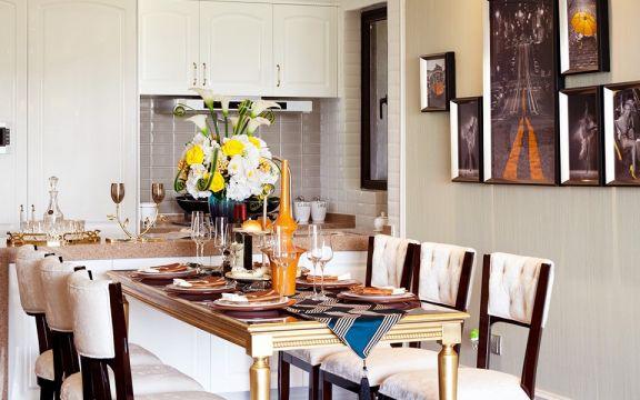 美式餐厅餐桌设计图欣赏
