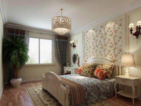 设计精巧米色卧室装潢效果图