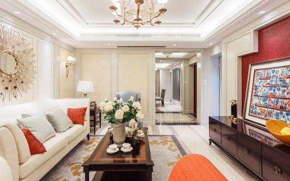 客厅米色沙发装饰效果图
