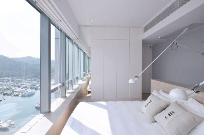 卧室吊顶北欧实景图