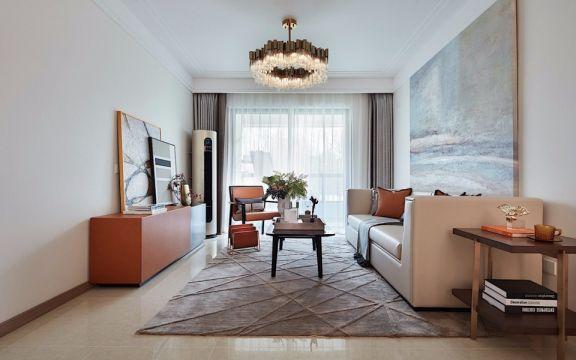 迷人混搭米色沙发设计图欣赏