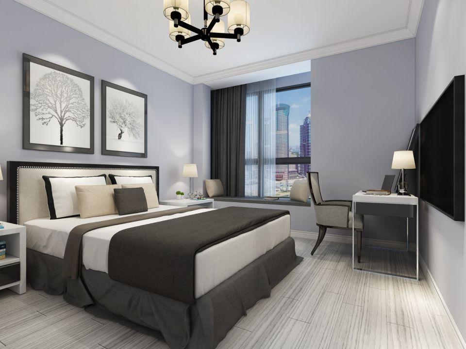 创意现代简约灰色床装修效果图