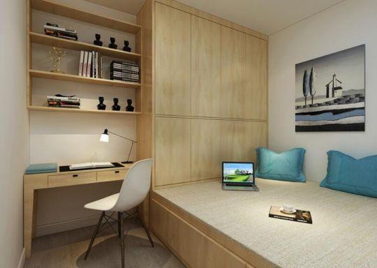 低调优雅卧室榻榻米案例图