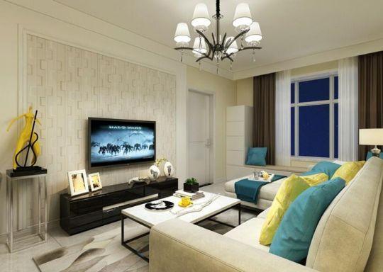温暖客厅现代简约装修图
