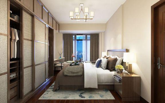 卧室窗帘新中式U乐国际装潢优乐娱乐官网欢迎您