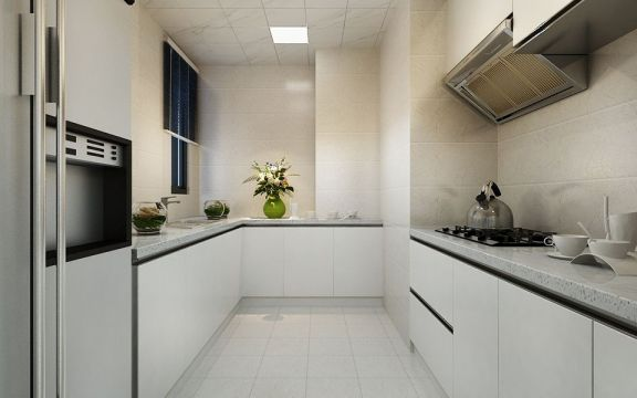 简洁厨房橱柜装饰设计