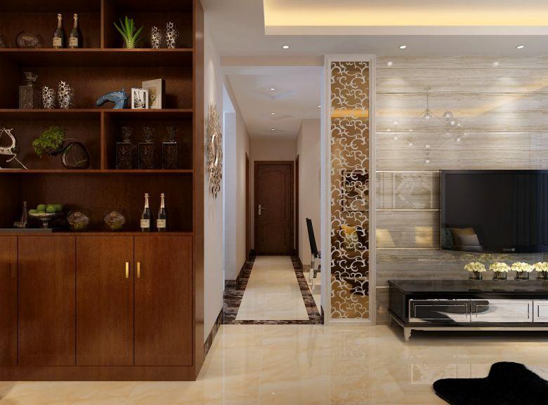 富丽混搭米色走廊家装设计