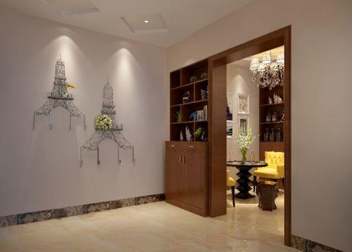 混搭书房背景墙装饰效果图
