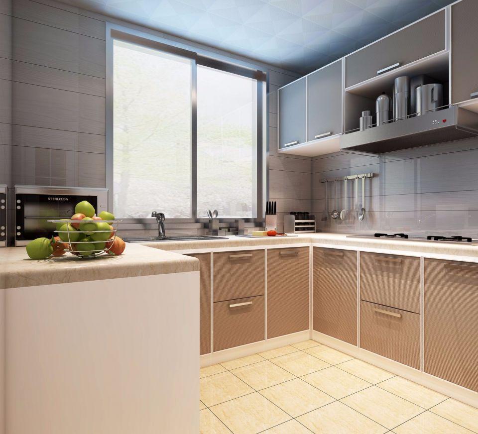 2018现代厨房装修图 2018现代橱柜装修设计