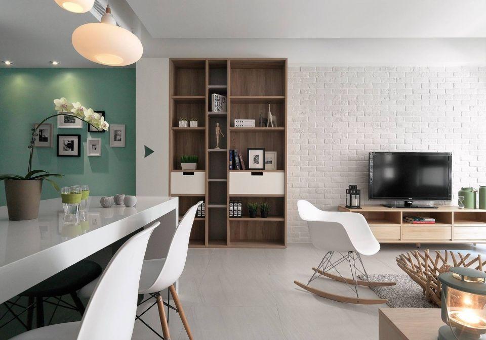 2018北欧客厅装修设计 2018北欧电视柜装修效果图片
