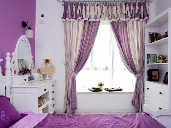 卧室窗帘田园U乐国际u乐娱乐平台设计图片
