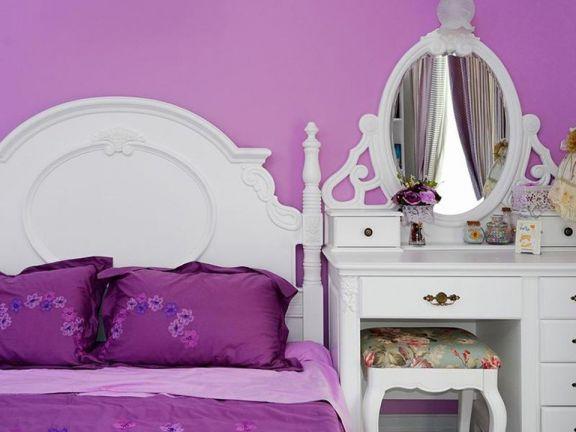 卧室背景墙田园U乐国际装潢设计图片