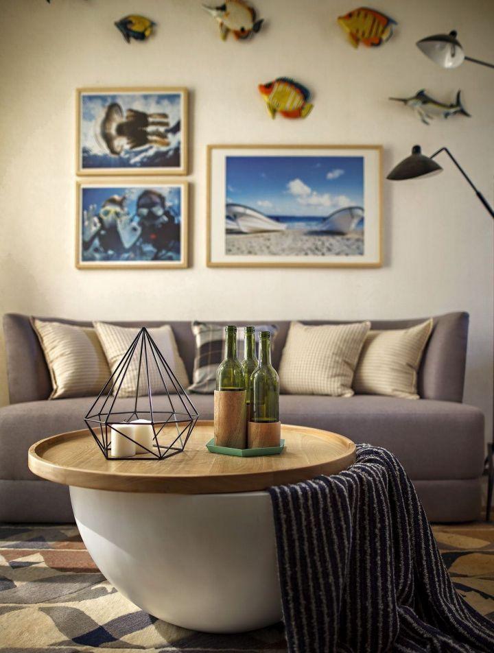 富丽北欧灰色沙发装修案例图片
