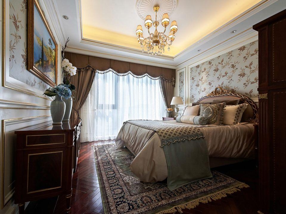 2018欧式卧室装修设计图片 2018欧式窗帘装修设计图片