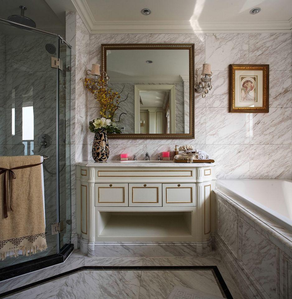 华丽卫生间洗漱台设计方案
