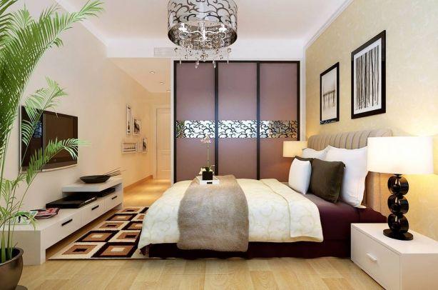 纯净紫色卧室装饰图片