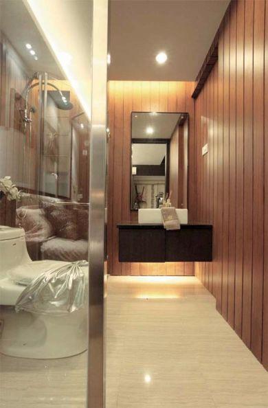 卫生间背景墙日式装饰效果图