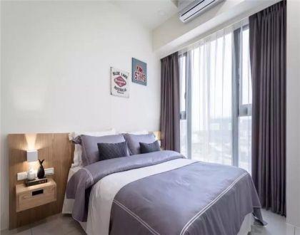 清新卧室现代简约装饰实景图片