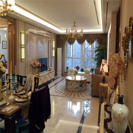 2018美式客厅装修设计 2018美式窗帘装修效果图片