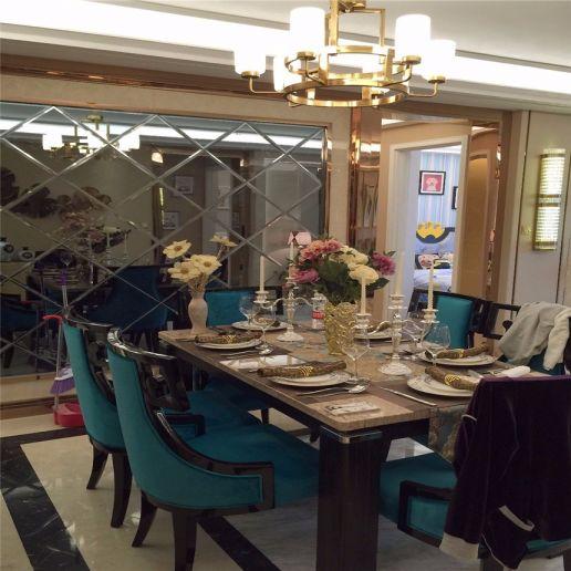 浪漫餐厅美式装潢效果图