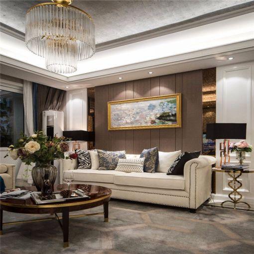 客厅沙发欧式效果图图片