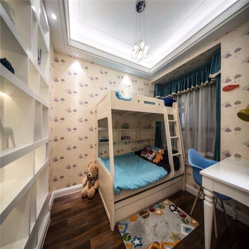欧式卧室儿童床装潢图