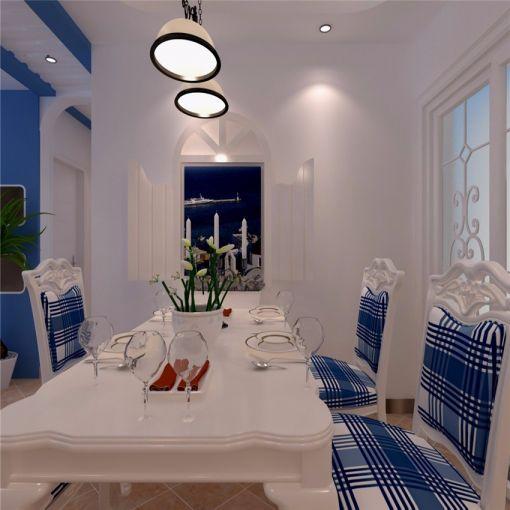 迷人白色餐桌装饰实景图