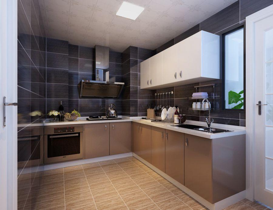 混搭厨房橱柜装修实景图