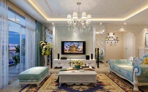 2018欧式客厅装修设计 2018欧式电视柜装修效果图片