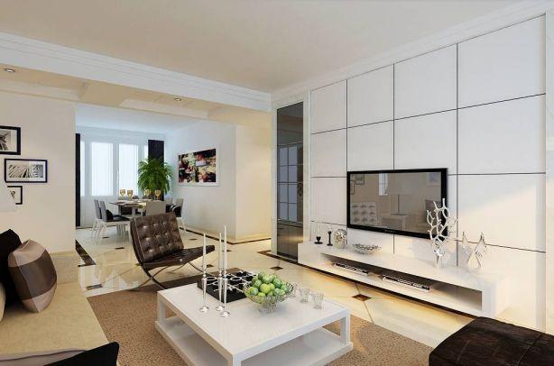 2018现代客厅装修设计 2018现代电视柜装修效果图片