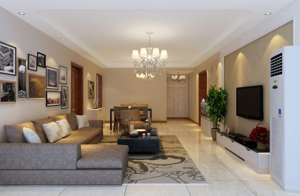 104平现代简约风格三居室装修效果图