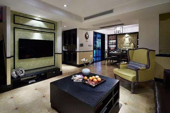 135平美式风格三居室装修效果图