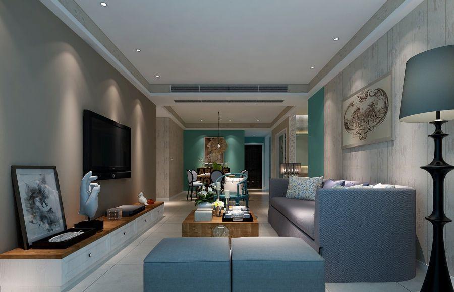 153平中式风格三居室装修效果图