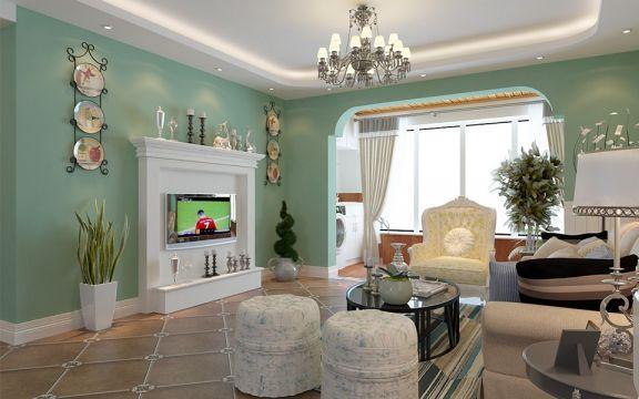 92平田园风格两居室装修效果图