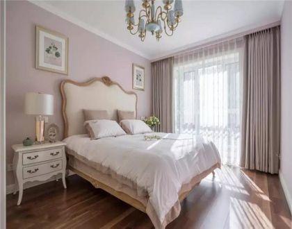 美式卧室床装饰图片