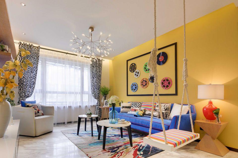 65平现代简约风格两居室装修效果图