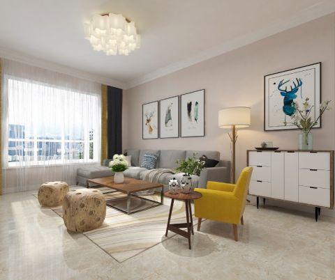 110平现代简约风格两居室装修效果图