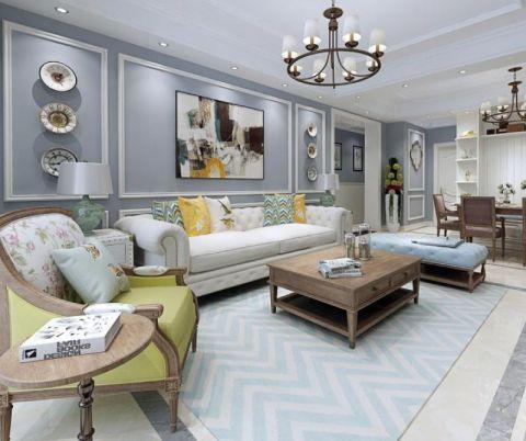 119平美式风格三居室装修效果图