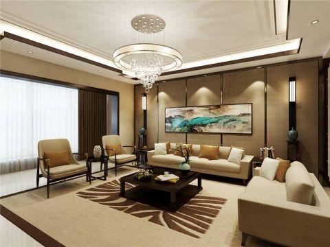 135平新中式风格套房装修效果图