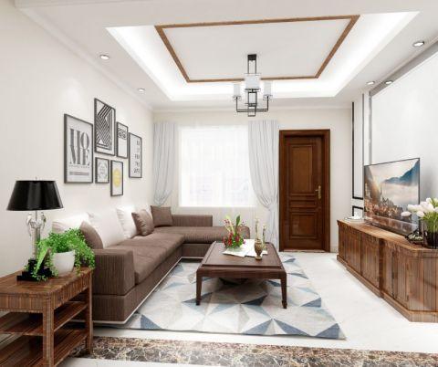 124平简欧风格三居室装修效果图
