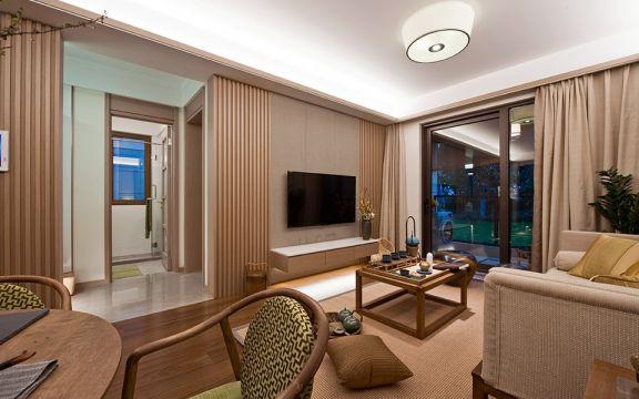 105平新中式风格三居室装修效果图
