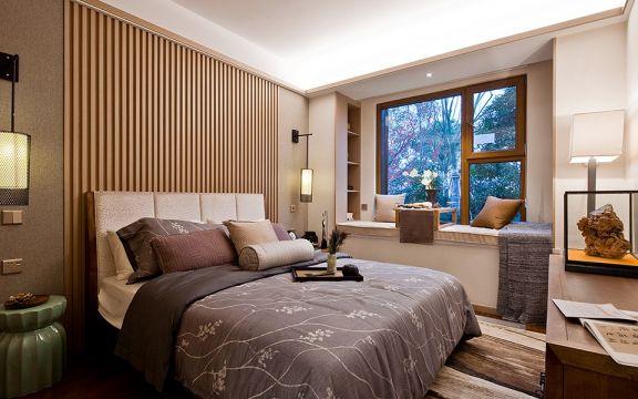 现代卧室新中式装饰实景图片