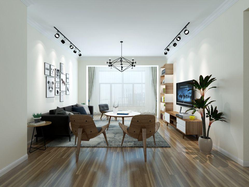 114平简约风格两居室装修效果图